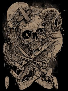 Grindesign -Jaws Poetica - custom shirt