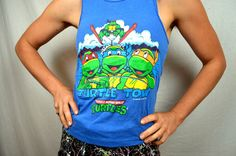 Vintage 1990s TMNT Teenage Mutant Ninja Turtles by RogueRetro