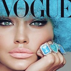 Gigi Hadid Looks Sexy and Unrecognizable in a Blue Wig for Vogue Italia | E! Online Mobile