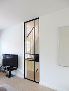 """stalen deuren """"slim fit"""" « AD&C Steel Windows, Windows And Doors, Steel Frame Doors, Dental Office Design, Door Curtains, Door Design, Glass Door, Living Room Designs, Decoration"""
