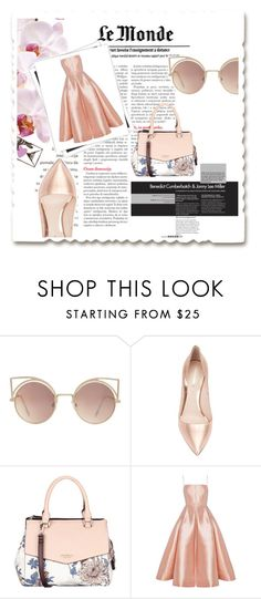 """""""La rose"""" by gina-is-in-style ❤ liked on Polyvore featuring MANGO, Nicholas Kirkwood, Fiorelli, GALA and Alex Perry"""