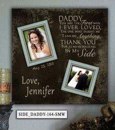 Personalized Wedding Photo Frame SIDE/DADDY by PhotoFrameKeepsakes, $75.00