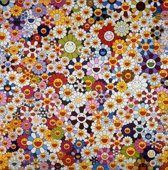 Takashi Murakami, Flowers, flowers, flowers, 2010. Acrylic on canvas mounted on board; 59 x 59 in. (149.9 x 149.9 cm). Collection of the Chang family, Taiwan Photo: Norihiro Ueno.