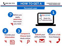 How to get a Personal Loan? - Follow this 5 easy steps   -Ruloans
