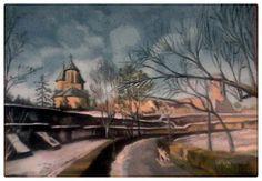 Femlora: Pictor, Grafician: Alee in parc Artist, Painting, Artists, Painting Art, Paintings, Amen, Drawings