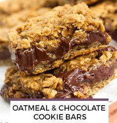 Oatmeal & Chocolate Cookie Bars recipe