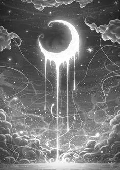 dripping moon
