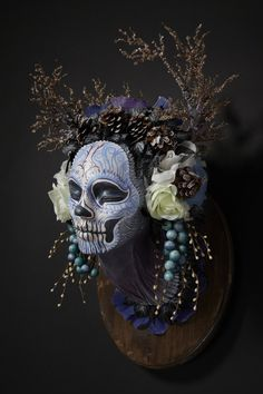 Winter Muertita, four seasons masks by Krisztianna