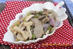 Fried King Oyster Mushroom with Beef Recipe (Nấm Đùi Gà Xào Bò) from www.vietnamesefood.com.vn