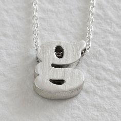 sterling silver block letter initial necklace  g by christinakober, $74.00 ---- with the letter G?! maybe i can wear this at the reception?