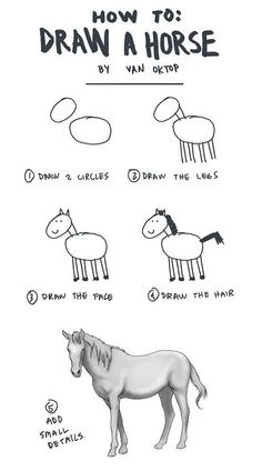 "easy ""how to"" draw a horse ... :p"