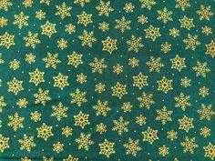 Metallic Snowflake Christmas Fabric, Traditional Holiday Fabric, Xmas Fabric Christmas Fabric, Christmas Traditions, Fabric Crafts, Snowflakes, The Creator, Cotton Fabric, Metallic, Xmas, Navidad