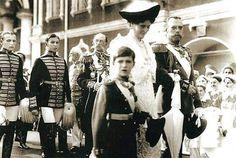 Tsar Nicholas ll of Russia and Empress Alexandra Feodorovna of Russia with Tsarevich Alexei Nikolaevich Romanov of Russia.A♥W