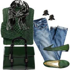 """Dark Green Wool Sweater"" by ldumperth"