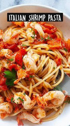 Best Shrimp Recipes, Fish Recipes, Seafood Recipes, Pasta Recipes, Great Recipes, Dinner Recipes, Cooking Recipes, Favorite Recipes, Healthy Recipes