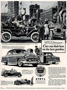 Original 1953 Ethyl Gasoline Ad