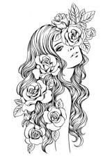 Adult Coloring Book People New 775 Best Beautiful Women Coloring Pages for Adults Images – Colorir. Printable Adult Coloring Pages, Coloring Pages To Print, Coloring Books, Colouring Pages For Adults, Fairy Coloring Pages, Art Drawings, Sketches, Prima Marketing, Altered Art
