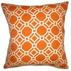 Cadena Chain Link Pillow Clementine