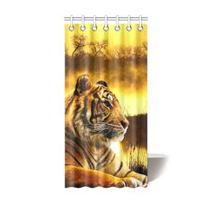 "Tiger and Sunset Shower Curtain 36""X72"". FREE Shipping. FREE Returns."
