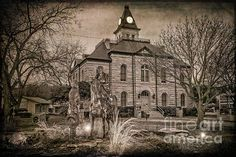 Somervell County Courthouse - Joan Carroll. In Glen Rose TX. To view or purchase prints, canvases, cards or phone cases visit joan-carroll.artistwebsites.com THANKS!