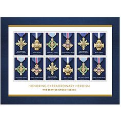 View Larger Image Honoring Extraordinary Heroism: The Service Cross Medals Art director Greg Breeding designed the stamps and stamp sheet, working with photographs of the medals by Richard Frasier.