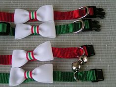 Cat and Dog Pet Collars Christmas Ribbon Candy by LuciesLuvlies, $10.95