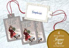 Etiquette Joyeux Noël Prêt à Imprimer Marque Nom par LesNuitsdEncre