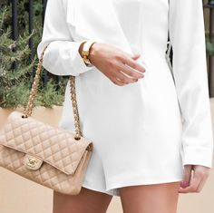 Chanel beige handbag, Classic accessories, white on white, Hermes click clack, neutral, style stalker