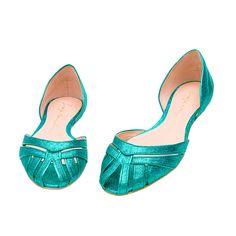 Sapatilha peep toe tiras e glitter » Sapatilha - OQVestir