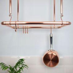Copper Ceiling Pot And Pan Rack, Organiser