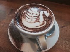 Not your regular latte- Can you guess what's special about this one? by liftcoffee_whistler