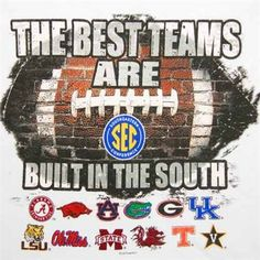 The Best College Football Teams Are Built In The South!!! We Prove It, Every Single Year!!! SEC!!!
