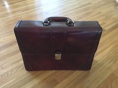 Bosca Old Leather Classic Double Gusset Flap Over Briefcase 833