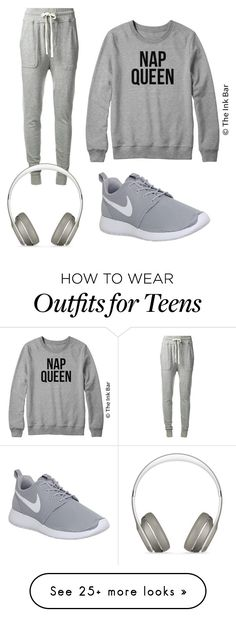 """""""4:57"""" by diamond456 on Polyvore featuring James Perse, Beats by Dr. Dre and NIKE"""