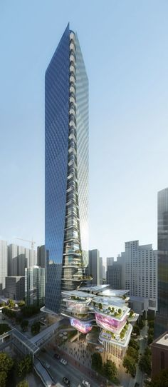 Aedas Designs An Urban Oasis With Staggered Green Retail Arcade In Shenzhen, China