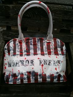 Horror Freak Handbag Purse. Created by MissFiendishApparel @ etsy.com