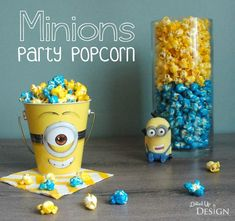 This Minions Party Popcorn recipe could be used for any party theme in a variety of colors. A great party treat for kids and adults. Easy to make too! Minion Birthday, Minion Party, 4th Birthday, Birthday Ideas, Party Popcorn Recipes, Homemade Face Paints, Its My Bday, Party Treats, Candy Buffet