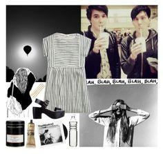 """BLACK // & WHITE"" by bubblywisdom ❤ liked on Polyvore featuring moda, Cara, Madewell, Soles, Williams-Sonoma, Sagaform y Aesop"