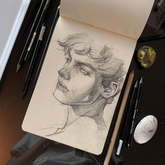 Great Tagged with aesthetic art drawing drawings face guys pencil sketch sketching Pencil Art Drawings, Art Drawings Sketches, Drawing Art, Sketch Drawing, Disney Drawings, Drawing Poses, Drawing For Kids, Drawing Ideas, Drawing Tips