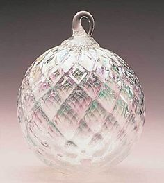 144L Glass Eye Studio Ornament Clear Diamond Facet (April) - #1 GLASS EYE STUDIO Approved Retail Dealer Crystal River Gems