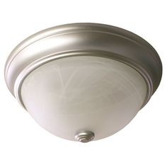 $23.48 Project Source 2-Pack 13-in W Satin Nickel Ceiling Flush Mount  Item #: 555549 |  Model #: 40803