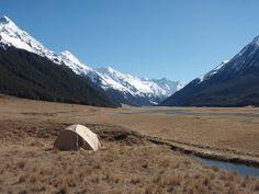 Camping, Ahuriri Valley.