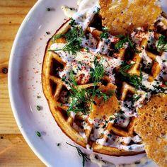 Another dish from yesterday's #brunch @caravanrestaurants #KingsCross with the lovely @sianaho - #Potato #waffle  buttermilk dressing   #toplondonrestaurants #eatfamous #bestfoodworld #culturetrip_ldn #feedfeed #forkyeah #eeeeeats #dailyfoodfeed #foodpornshare #foodiegram #fdbloggers #instafood #foodpics