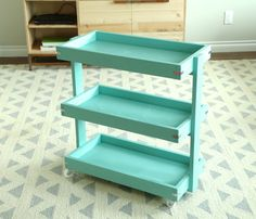 Ana White   Build a Smaller Rolling Cart for Home Depot DIH Workshop   Free and Easy DIY Project and Furniture Plans