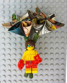 Genuine LEGO® Comic Book LIFEGUARD Boutonnière by Brickreate on Etsy $24.99