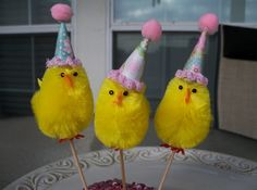 Party chick cupcake toppers--cute!