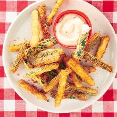 Healthy snack recipes: Zucchini Fries with Chipotle Mayonnaise south beach diet phase 2 (bc of breadcrumbs)