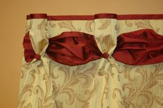 Pleated DANIELLE Hidden Rod Pocket Valance by BlackBeltHomeDecor