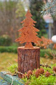Edelrost Baum rund zum Hängen Dekoration Baumhänger Metallbaum Rost Garten
