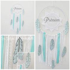 Attrape rêve rubans pour enfant et bébé avec plumes en tissu